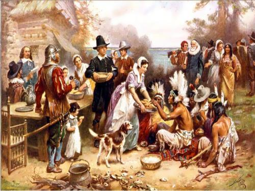 Thanksgiving day. American History.