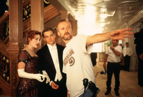 Kate Winslet, Leonardo DiCaprio and James Cameron