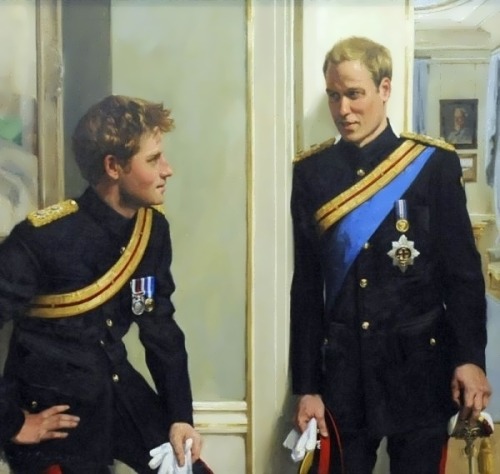 Princes William and Harry by Nicky Phillips