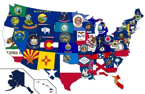 50 states of the USA