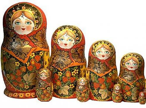 matryoshka is the most famous symbol of russia and the most popular russian souvenir all around the world it is a set of wooden dolls nested into each