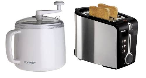 Ice cream maker, Toaster