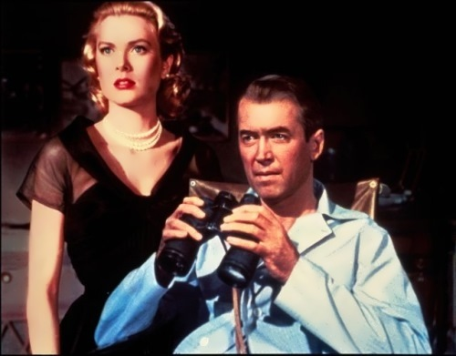 Grace Kelly and James Stewart in Rear Window