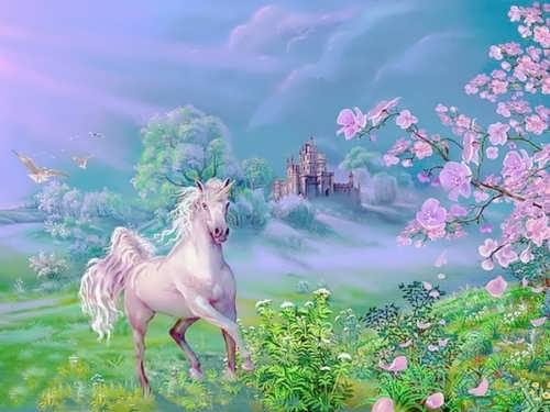 Unicorn in the Garden