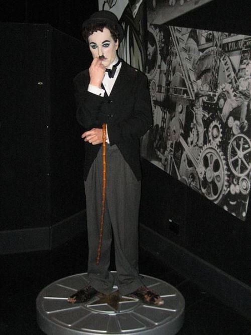 charlie chaplin wax model