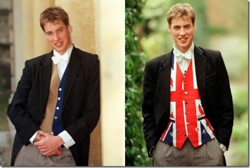 Prince William liked to wear a waistcoat made from the British flag