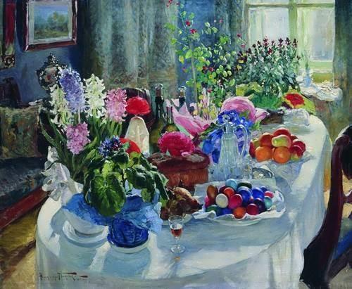 Easter table - Alexander Makovsky