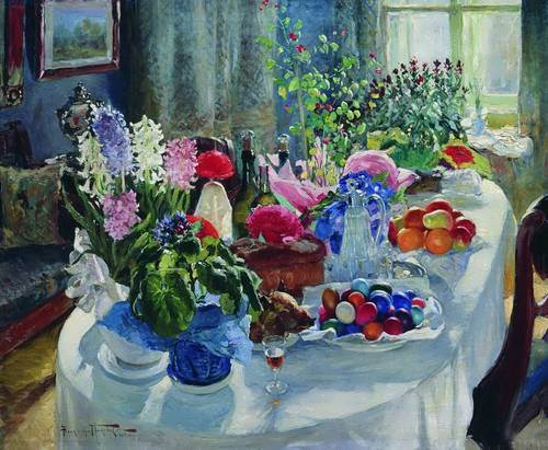 Easter table - Alexander Makovsky